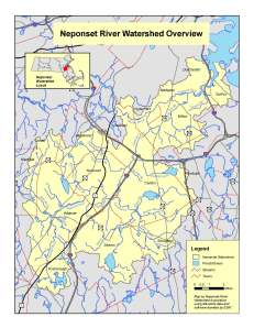 Neponset Watershed map