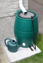 rain barrel & watering can